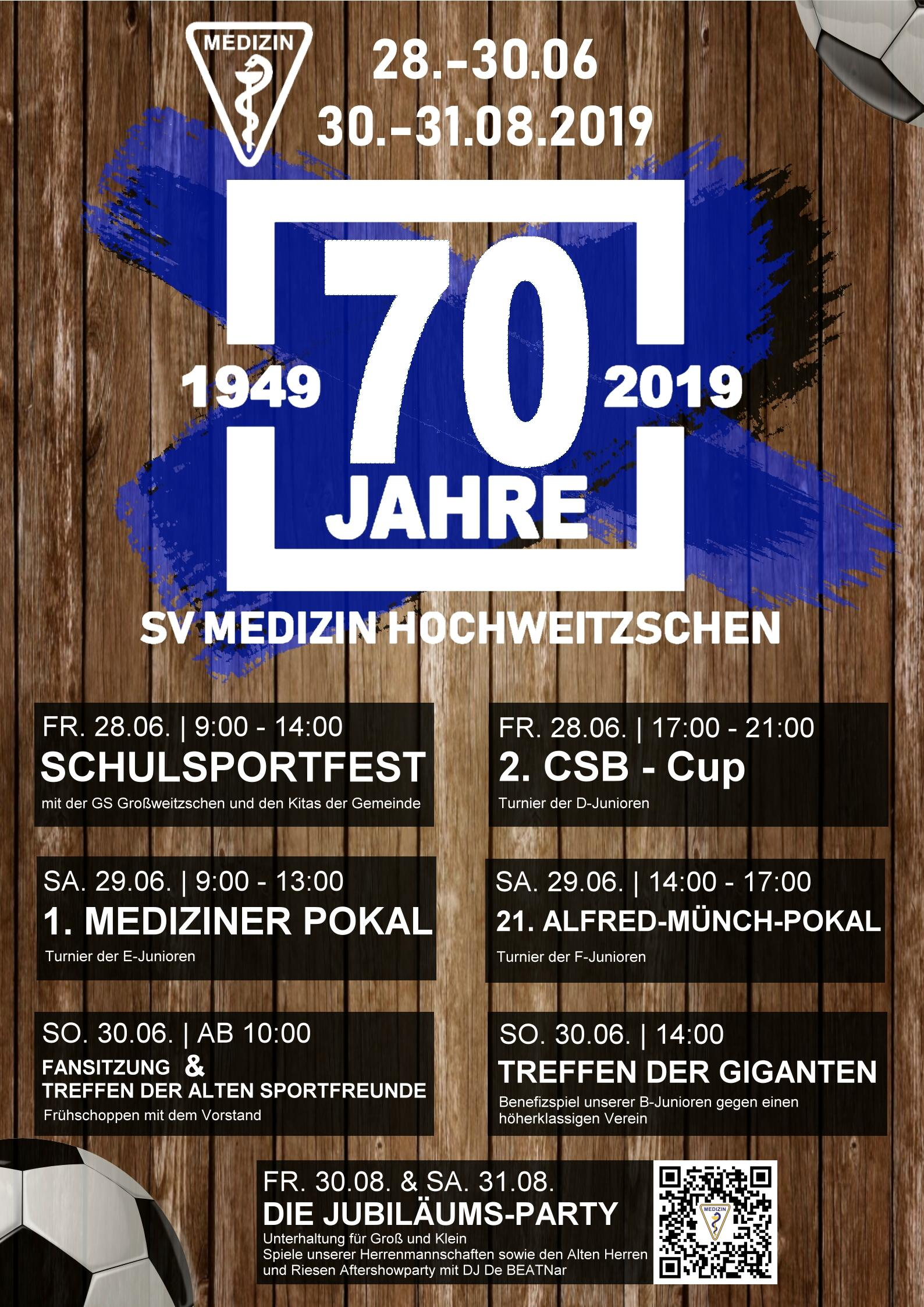 70 Jahre SV Medizin Hochweitzschen @ Sportplatz Hochweitzschen
